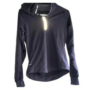 Black- •Nike•  Dri-Fit Quarter-Zip Hooded Pullover